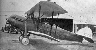 """The Bloomington Pantagraph's first """"Scoop,"""" a Waco """"90"""" biplane, pictured in 1929. Reprinted with permission of The Pantagraph, Bloomington, Ill."""